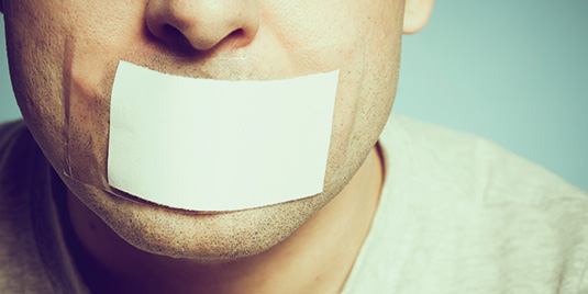 Man With Tape On His Mouth - 10 Things Not To Say To Someone With Bipolar