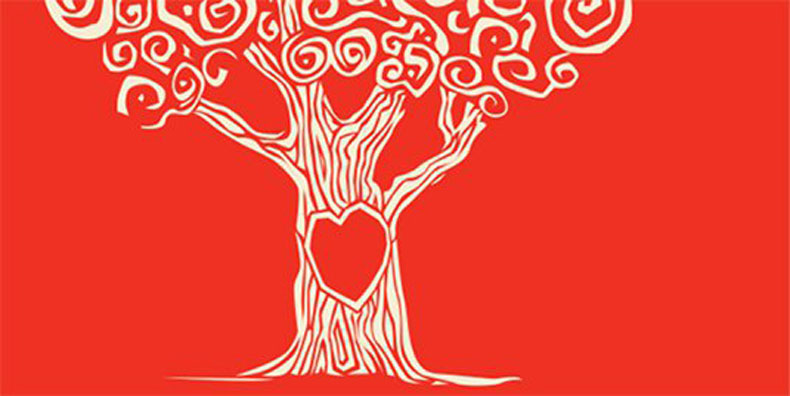 Tree with heart symbolizing healthy and stable relationship with bipolar