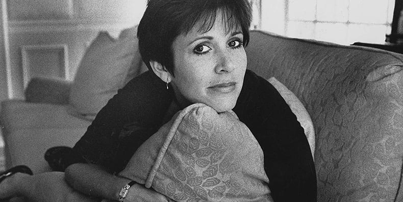 Young Carrie Fisher in A Life on the Edge by Sheila Weller