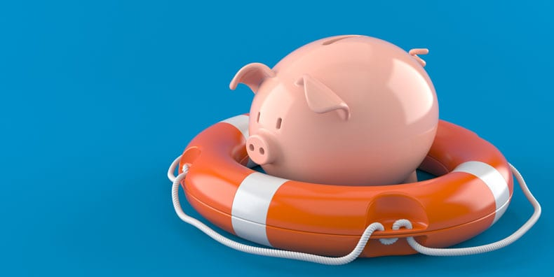 piggy-bank-life-preserver-managing-money-mistakes-finances-bipolar-disorder-mania-depression-management